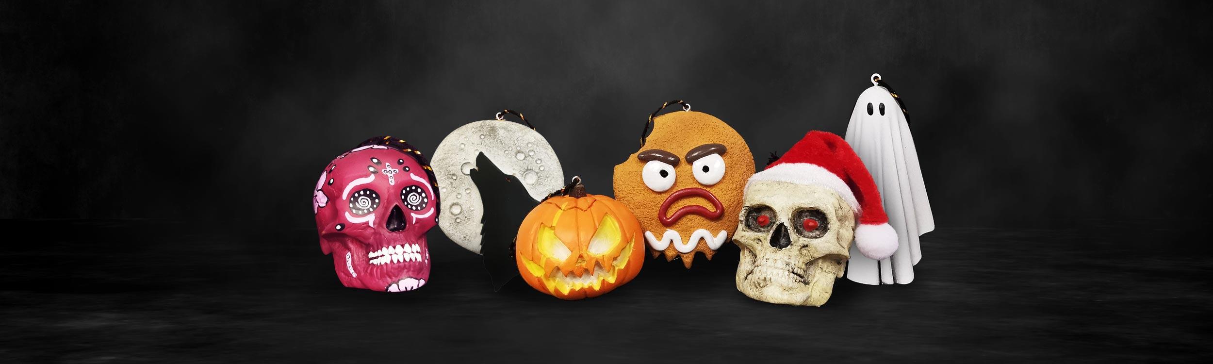Photo of 3 Halloweenmas Ornaments
